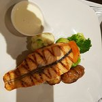 Atlantic Salmon with lemon cream sauce