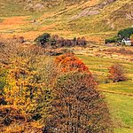 Ffynnon Cadno Guest House from across the valley