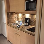 Kitchenette in room.