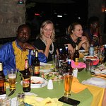 Some of my colleagues at dinner. We were in Kampala for a two day conference.