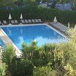 Room 409, Luna Olympus - view of the pool