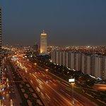 Sheih Zayed Road at night
