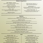 2016 Early Winter Menu (be sure to ask about nightly specials!)