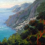 Wonderful time painting in Positano at Villa Lighea.