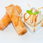 Asu on the Beach - Banana Spring Roll Dessert