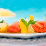 Asu on the Beach - Mango Caprese Salad