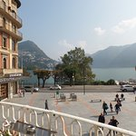 from Hotel view of Lake Lugano and Piazzia Luini