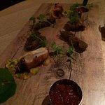 Empire Game Platter Cumin Venison Kebab, Tandoori Pigeon Breast, Pheasant Spring Roll, Mango & C