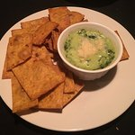 Spinach Dip and Deep Fried Pita Bread