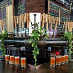 16 taps dedicated to pints flights, along with 8 additional taps dedicated to filling growlers!