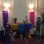 Dia de Muertos alter in the lobby.