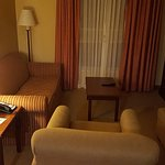 Middle sectio of each suite, complete with another television