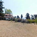 La hostería tiene una vista maravillosa hacia el valle y la montaña