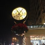 Clock outside of hotel