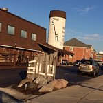 Silo in Lake Bluff - their parking lot is always full at night
