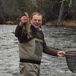 Fishing on Rock Creek! Caught a nice one!
