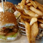 Chicken Sliders and chips