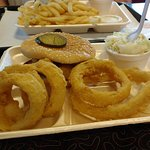 Fish O Burger and the best onion rings