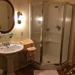 Large baths and spacious rooms.  Always neat.  Impeccably clean.