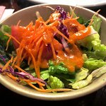 Fresh salad with ginger dressing
