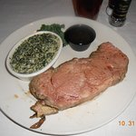 prime rib and creamed spinach