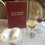 Napa wine train dinner