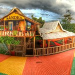 The treehouse and chill out area