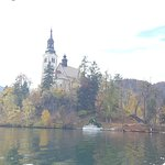 View of Bled island from the boat