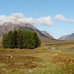 Buchaille Etive Mor from the room
