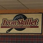 Iron Skillet - the sign