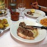 Steak with rosemary potaotes