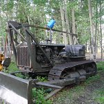 this old MIltary cable cat was used to build the Alask Highway