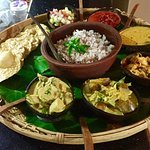 Asian Jewel RIce and Curry,  Chicken, fish or prawn,4 vegetable curries , popadoms/rice. Pre ord