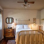 room #2  double bed suite / antique iron bed