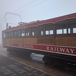 Snaefell Tramway on top of the Mountain