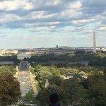 View out towards Washington DC from Arlington House at Arlington Cemetery