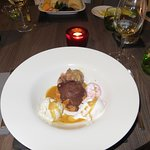 Profiterole with ice cream at The Townhouse