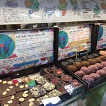 Some of the raw vegan sweets and chocolates available.