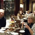 Enjoying The Gentleman's Afternoon Tea in the Arkle Bar and Lounge