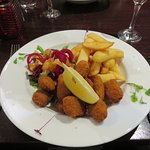 Scampi & Chips at the Croft Restaurant