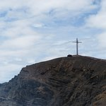 Cross put up to bless the volcano