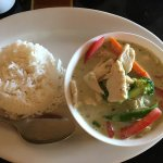 The first picture is the soup and salad which comes with the lunch menu. Next is the Thai Green