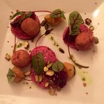 Beets & Blue Cheese Fritters