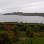 view of Loch and garden from bedroom