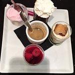 Filetto di branzino , tartare di tonno e caffé gourmand 😋