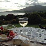 Having a wine in the front garden after a lovely day driving around Slea Head