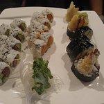 Avocado and Tuna Roll, Spicy Tuna Roll, Shrimp Roll
