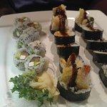 Philadelphia Roll, Shrimp Roll, Chicken Roll