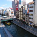 View of Dotonbori canal from the room