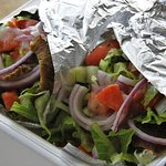 Fresh lamb gyros of Souvlaki Fast in Boynton Beach, Florida NOV 16